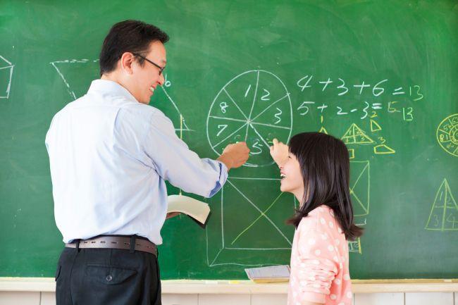 teacher teach student how to solve the math questions