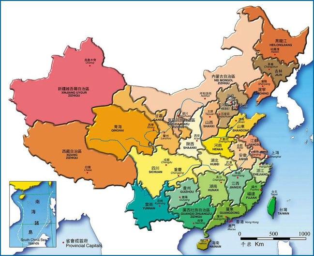 china province map