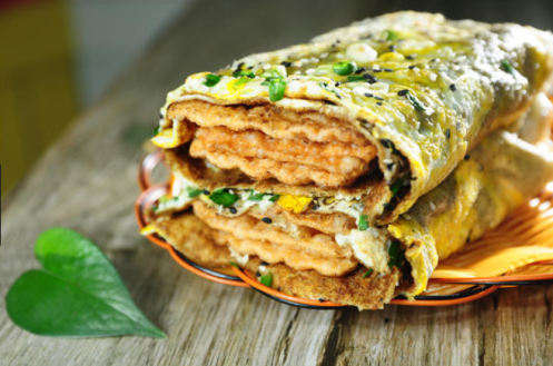 Chinese egg crepes